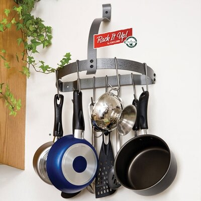 Wall Hanging Pot Rack enclume rack it up! half moon wall mounted pot rack & reviews