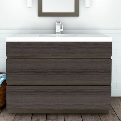 "cutler kitchen & bath boardwalk 48"" single bathroom vanity set"