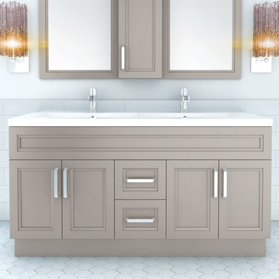 "Cutler Kitchen & Bath Urban 60"" Vanity Double Bowl & Reviews ..."