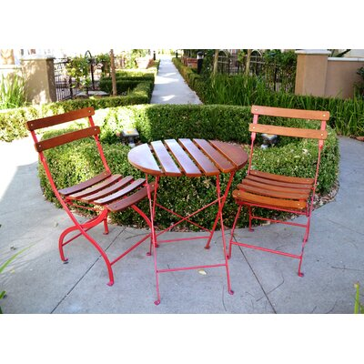 Innova Hearth And Home Uptown 3 Piece Bistro Set Reviews Wayfair