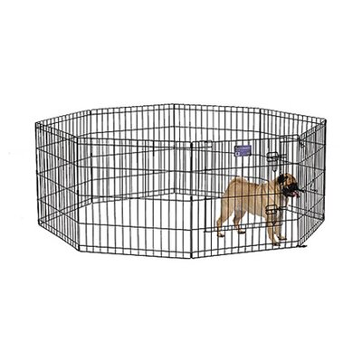 midwest homes for pets black ecoat exercise pet pen u0026 reviews wayfair
