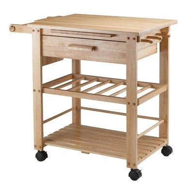 kitchen cart.  Winsome Finland Kitchen Cart with Wooden Top Reviews Wayfair