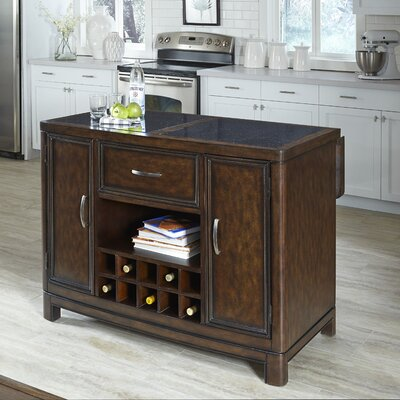home styles crescent hill kitchen island with granite top