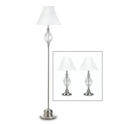 Alcott hill mather 3 piece table and floor lamp set reviews wayfair