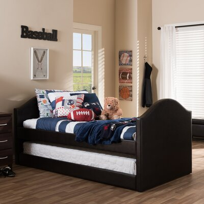 wholesale interiors baxton studio twin bed with trundle u0026 reviews wayfair - Baxton Studio Bed