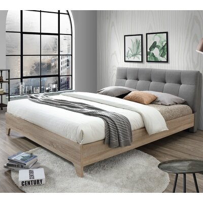 wholesale interiors baxton studio rebecca upholstered full platform bed reviews wayfair - Platform Bed Frames Full