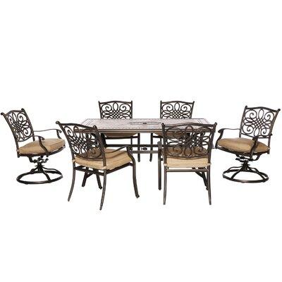 Hanover Monaco 7 Piece Dining Set With Cushions U0026 Reviews | Wayfair