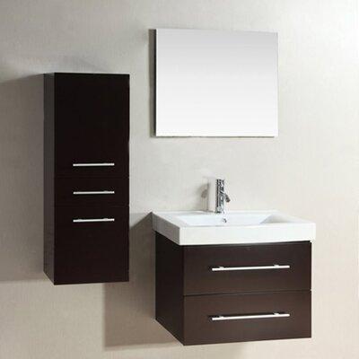 "Kokols 24 Bathroom Vanity Set kokols 28"" single bathroom vanity set with mirror & reviews   wayfair"