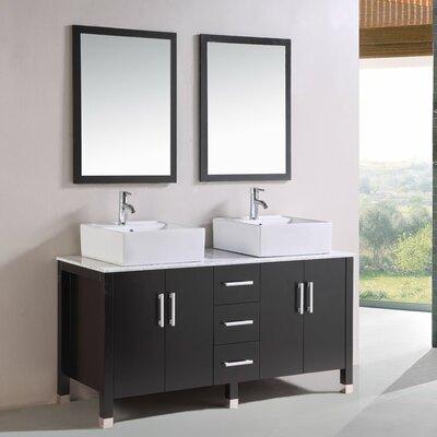"Kokols 24 Bathroom Vanity Set kokols 60"" double bathroom vanity set with mirror & reviews   wayfair"