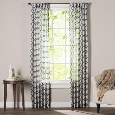 becky ikat trellis rod pocket single curtain panel & reviews
