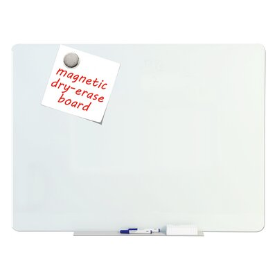 tempered glass dry erase wall mounted magnetic glass board u0026 reviews wayfair