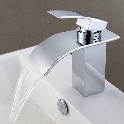 Sumerain Single Handle Deck Mount Waterfall Bathroom Sink Faucet