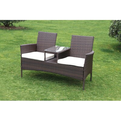 SunTime Outdoor Living Forres Wicker Tete a Tete Bench   Reviews   Wayfair. SunTime Outdoor Living Forres Wicker Tete a Tete Bench   Reviews