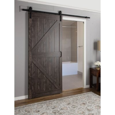 Interior Barn Door erias home designs continental mdf engineered wood 1 panel