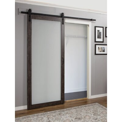 Interior Barn Door With Glass erias home designs continental mdf eingineered wood 1 panel