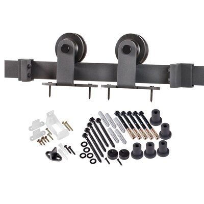 Erias Home Designs Top Of Door Sliding Barn Door Hardware U0026 Reviews |  Wayfair