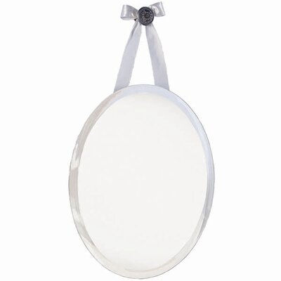 Erias Home Designs Mirage Oval Knob Wall Mirror With Ribbon | Wayfair