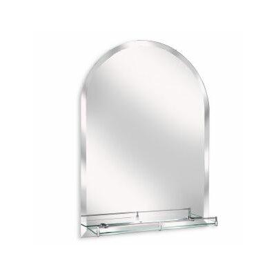 erias home designs arch wall mirror with glass shelf wayfairca - Erias Home Designs