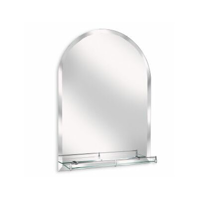 Erias Home Designs Arch Wall Mirror With Glass Shelf Reviews