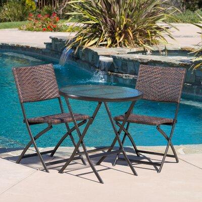 Varick Gallery Vacca  Piece Outdoor Bistro Set  Reviews Wayfair - Outdoor bistro table set