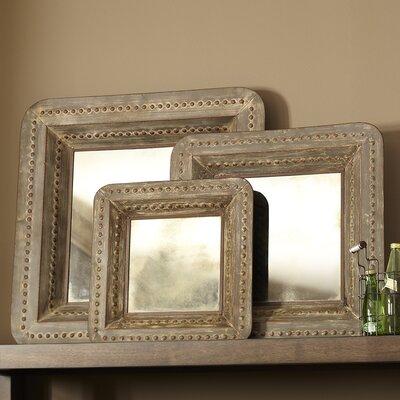 Wall Mirror Set Of 3 3-piece erin square wall mirror set & reviews | joss & main