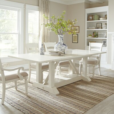 Extending Dining Room Table Extraordinary Lisbon Extendable Dining Table & Reviews  Birch Lane Design Decoration