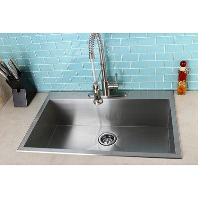 kingston brass uptowne 33 x 22 self rimming single bowl kitchen sink reviews wayfair. Interior Design Ideas. Home Design Ideas