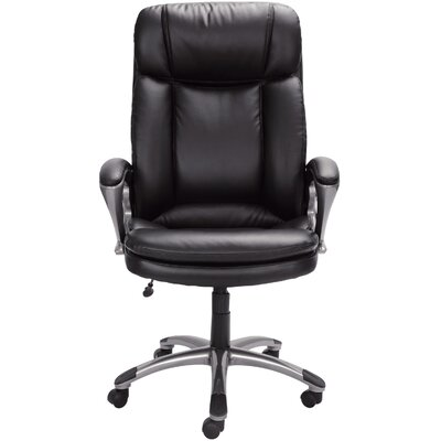 serta at home high-back leather executive chair & reviews | wayfair