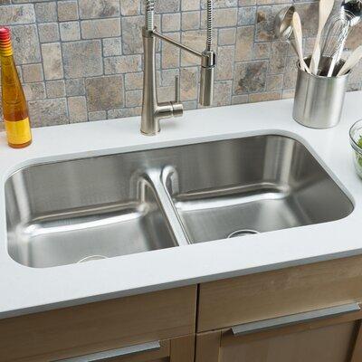 "hahn classic chef 32.5"" x 18.13"" double bowl undermount kitchen"