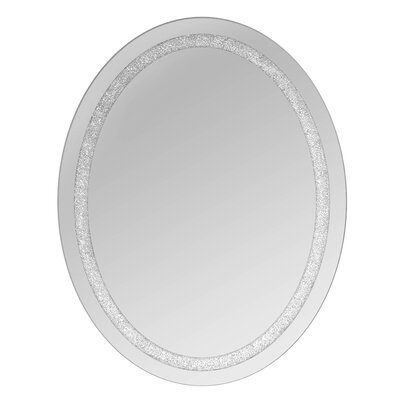 Crystal Wall Mirror selectionschaumont oval beaded crystal wall mirror & reviews