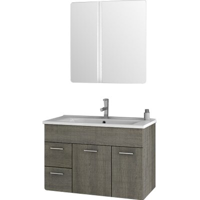"Bathroom Vanities Set acf loren 32.7"" single bathroom vanity set with mirror & reviews"