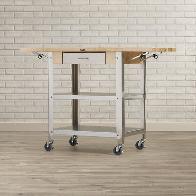 John Boos Cucina Americana Kitchen Cart With Wood Top U0026 Reviews | Wayfair