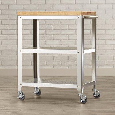 john boos cucina americana kitchen cart with butcher block top u0026 reviews wayfair - Butcher Block Top