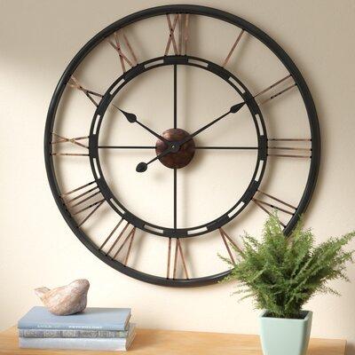 August Grove Drew Oversized Metal Wall Clock Reviews Wayfair