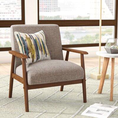 langley street derryaghy wood frame armchair reviews wayfair - Wood Frame Chair