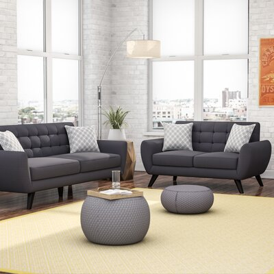 Mercury Row Carlson 2 Piece Living Room Set U0026 Reviews | Wayfair Part 11