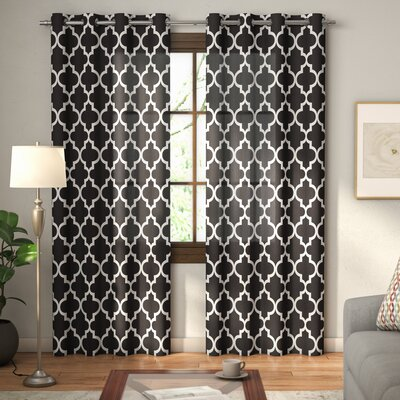 andover mills sneed damask semiopaque thermal grommet curtain panels wayfair