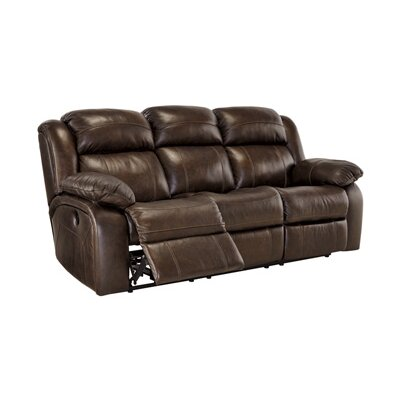 Signature Design By Ashley Branton Leather Reclining Sofa U0026 Reviews |  Wayfair Part 39