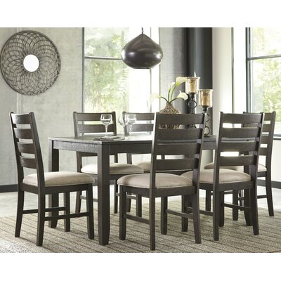 signature design by ashley rokane 7 piece dining set reviews wayfair - Painted Dining Room Table And Chairs