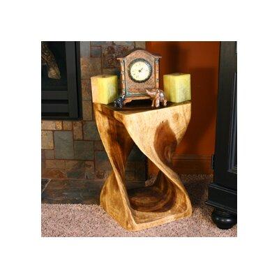 Strata Furniture Thai Hand Carved Twist End Table U0026 Reviews | Wayfair