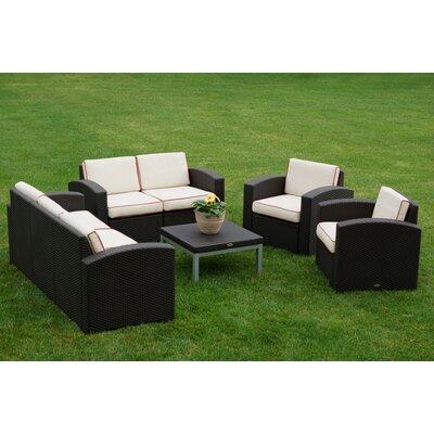 Strata Furniture Cielo 5 Piece Deep Seating Group With Cushions U0026 Reviews |  Wayfair