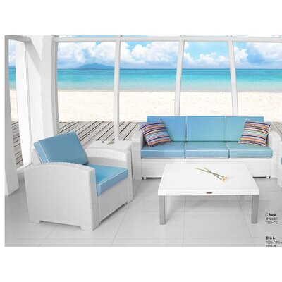 Strata Furniture Loggins Cielo Patio White 3 Piece Seating Group U0026 Reviews  | Wayfair