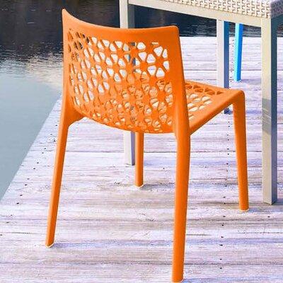Strata Furniture Cielo Stacking Patio Dining Chair U0026 Reviews | Wayfair