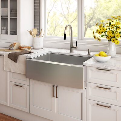 "Farmhouse Kitchen Sinks kraus stainless steel 33"" x 20.75"" farmhouse kitchen sink with"