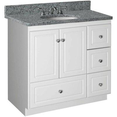 "strasser woodenworks simplicity 36"" bathroom vanity base & reviews"