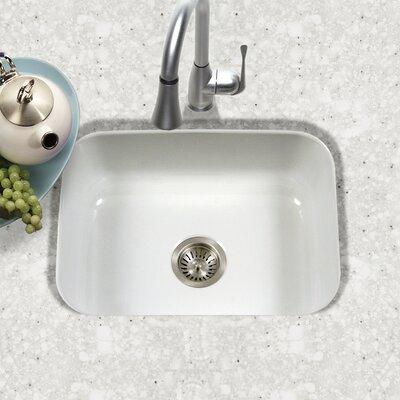 houzer porcela 2276 x 174 porcelain enamel steel undermount single kitchen sink reviews wayfair. beautiful ideas. Home Design Ideas