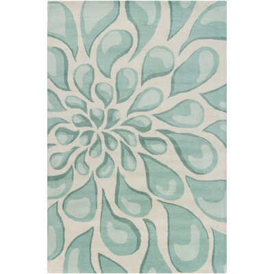 Chandra Stella Patterned Contemporary Wool Beige/Aqua Area Rug & Reviews |  Wayfair - Chandra Stella Patterned Contemporary Wool Beige/Aqua Area Rug