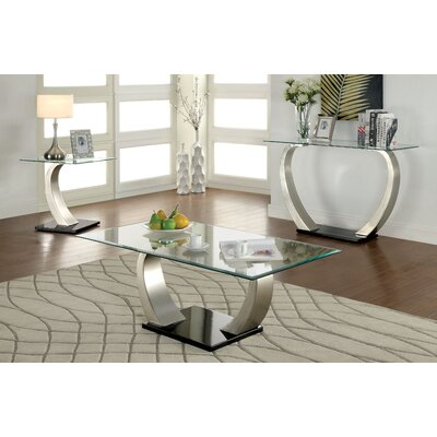 hokku designs natalia coffee table set | wayfair
