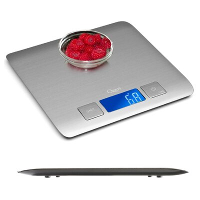 ozeri zenith digital kitchen scale, in refined stainless steel