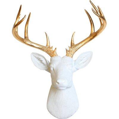 White Deer Head Wall Decor white faux taxidermy the xl deer head wall decor & reviews   wayfair